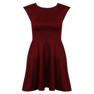 View Item Wine Skater Dress